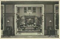 Hotel Woodstock Lobby Interior View 1920 New York City Postcard