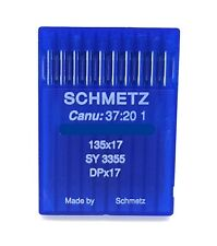10 Schmetz 135X17 Size#20 / 125 Industrial Sewing Machine Needles Dpx17 Sy3355