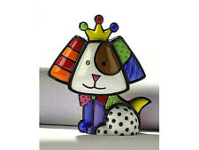 "ROMERO BRITTO MINIATURE FIGURINE: ""ROYALTY"" DOG ** NEW **"