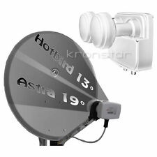 SAT-Anlage ANTHRAZIT 80cm Astra-Hotbird für 4 Teilnehmer DIGITAL Full HD+ 4K UHD