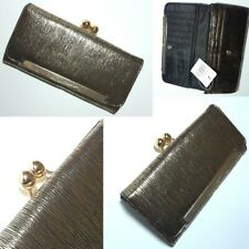Vintage Style Gold Stripe, Faux Leather Coin Purse Wallet