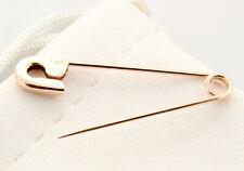 1.25'' long Handmade in Usa 14K Rose Gold Safety Pin