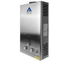 Stainless 12L Hot Water Heater Steel 3.2GPM LPG Gas Tankless Boiler Instant