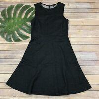Theory Nikay Jackson Charcoal Gray Dress Size 10 Sleeveless Cotton Wool Blend
