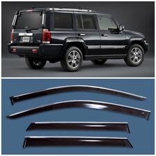 Chrome Trim Window Visors Guard Vent Deflectors For Jeep Commander 2006-2010