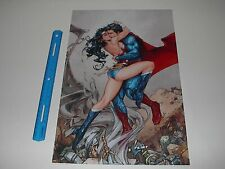 Dc Comics Wonder Woman Kissing Superman True Love Poster Pin Up New