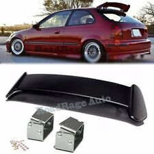 For 96-00 Civic EK9 3DR Type R Rear Spoiler Wing W/ Adjustable Alex Tilt Bracket
