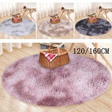 Flauschige Teppiche Hochflor Shaggy Rund Uni Farben Wohnzimmer Pflegeleicht