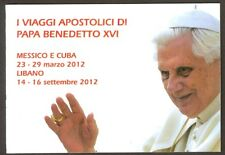 Vatican City 2013 Booklet, Papal Trips of Benedict XVI in 2012, Sc #1543a MNH