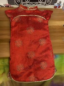 RARE AMERICAN GIRL DOLL IVY RED BROCADE CHINESE NEW YEAR DRESS ONLY