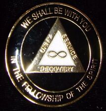 Alcohólicos Anónimos Medallón de recuperación negro a la eternidad moneda 1 5 30 Chip Token