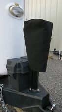 SMALL SIZE BLACK Electric Trailer Tongue Jack Cover - SUNBRELLA! Barker 3500 etc