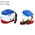 2 pack Boat Submersible Electric Bilge Water Pump 12v 1100GPH Fits 29mm hose US photo