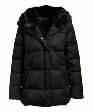 MSRP $320 Tahari Black Morgan Faux Fur-Trim Puffer Coat Size XXL
