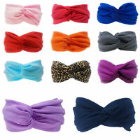 Womens Twist Headband Knot Wrap Turban Twisted Knotted Hair Band Fashion Elastic