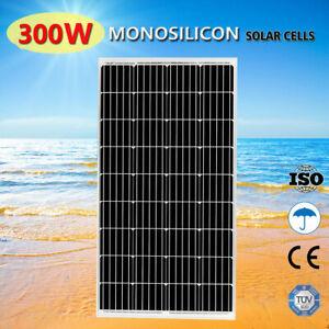 300W Watt Mono Solar Panel Kit 12V Battery Charger Sun Power Caravan Camping RV