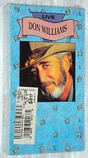 DON WILLIAMS LIVE VHS New BMG Music Videos 1990 GOOD OLE BOY LIKE ME Tulsa TIme