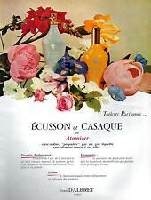 ▬► PUBLICITE ADVERTISING AD PARFUM PERFUME Ecusson et Casaque Jean D'ALBRET 1960
