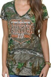 Danica Patrick 2013 Chase Authentics Women's V-Neck Shirt Realtree Camo Medium