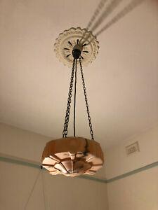 antique art deco bowl light