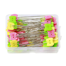 100PC Quilting Pins Patchwork Pins Butterfly Flat Head Dressmaking Needle Tool