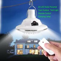 22LED Outdoor/Indoor Solar Lamp Hooking Camp Garden Light With Remote Control