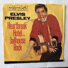 "Elvis Presley- Rare US RCA 45 with PS  ""Heartbreak Hotel""  1970s  Yellow Vinyl"