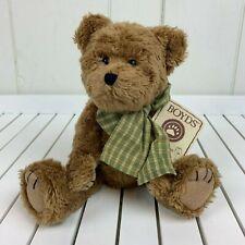 "Boyds Bears HB's Heirloom Series Dubley Brown Teddy Bear Green Plaid Bow 10"" NEW"
