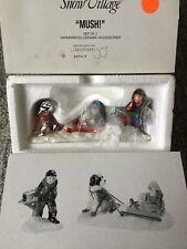 Dept 56 Snow Village® Mush! (Set of 2) - Brand New Still In Plastic
