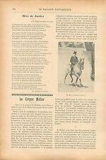 Cheval Piste Cirque Molier rue Benouville à Passy Paris GRAVURE  OLD PRINT 1913