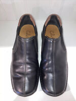 *NICE!* Cole Haan ZENO Loafers Slip-On Mens Black Leather Split Toe Shoes 7.5M