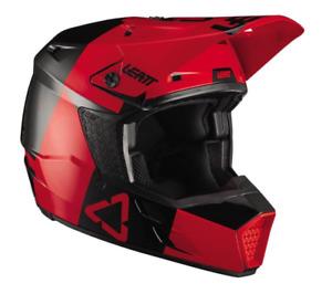 New LEATT MOTO 3.5 V21.3 YOUTH MX HELMET LARGE 53-54CM RED BLACK   1021000291