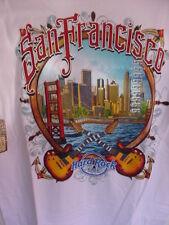 HARD ROCK CAFE*SAN FRANCISCO,CALIFORNIA*WHITE*CITY TEE*MEN'S LARGE T-SHIRT*NWT
