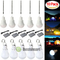 10x 15W Portable Solar Panel /USB Power LED Bulb Lamp Outdoor Camp Fishing Light