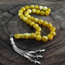 Amber Stone Islamic Prayer 33 beads Tasbih  Misbaha  Rosary Tasbeeh #model 199