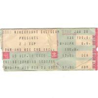 ZZ TOP & CATE BROTHERS Concert Ticket Stub CINCINNATI 2/23/77 RIVERFRONT Rare