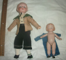 """Adorable Am Googly 210 10"""" Great Body Intaglio Eyes Old Clothes Plus All Bisque"""