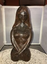 Lost Wax Cast Bronze Woman Lady Nude Bust Sculpture