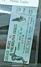 1941 Chicago Bears vs Philadelphia Eagles Football Game Ticket Stub Nov 30
