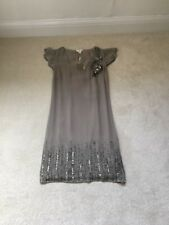 BNWT Monsoon 'Mother Of The Bride' Dress Taupe Size 8