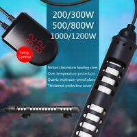 Fish Tank Submersible Heating Rod Stick LED Water Heater Aquarium Thermostat