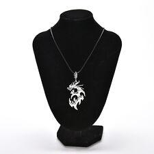 1Pc Dragon Shape Necklaces & Pendants For Men Fashion Silver Jewelry Necklace YT