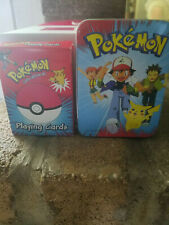 Pokemon Deck of Playing Cards & Tin Bicycle Licensed Product est. 1999 Nintendo