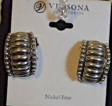Versona Accessories Nickel Free Clip On Earrings Silver Costume
