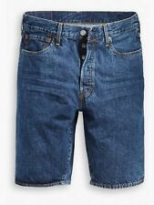 Levis Mens 501 Straight Fit Button Fly Blue Denim Shorts Tag Size 44