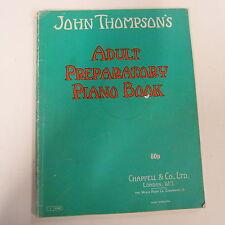 Klavier John Thompson's Erwachsene Preparatory Piano Buch