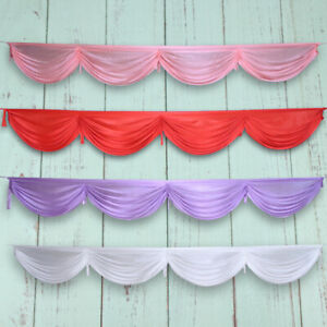 300cm Ice Silk Satin Wedding Backdrop Swags Curtain Party Stage Decor Swag