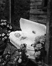 Photo. 1910s. Tennessee. Postmortem - Infant Boy, Casket, Flowers