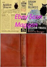 Seldon Truss  DRAW THE BLINDS  2nd w/fdj 1937 Hodder Murder Mystery