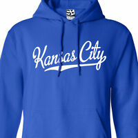 Kansas City Script & Tail HOODIE - Hooded KC KCK Baseball Champions Sweatshirt